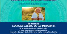 Seminario Códigos Cuerpo de Luz Merkaba - Nivel III - Bolonia, Italia - 26 noviembre Norma Ttolosa
