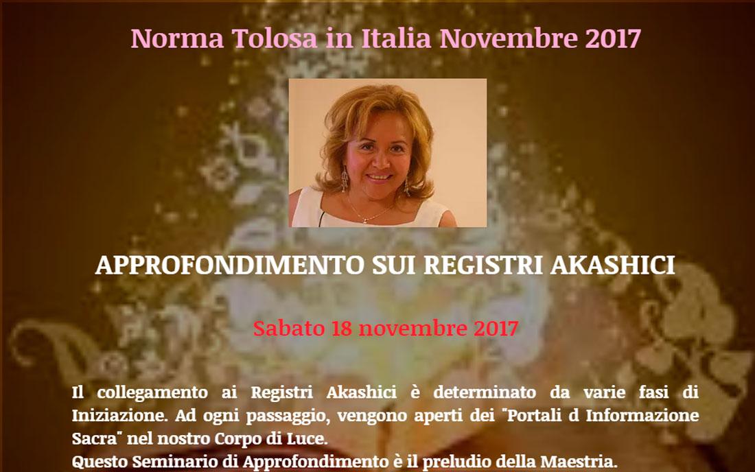Profundización Registros Akashicos - Bolonia, Italia - 11 noviembre - Norma Tolosa