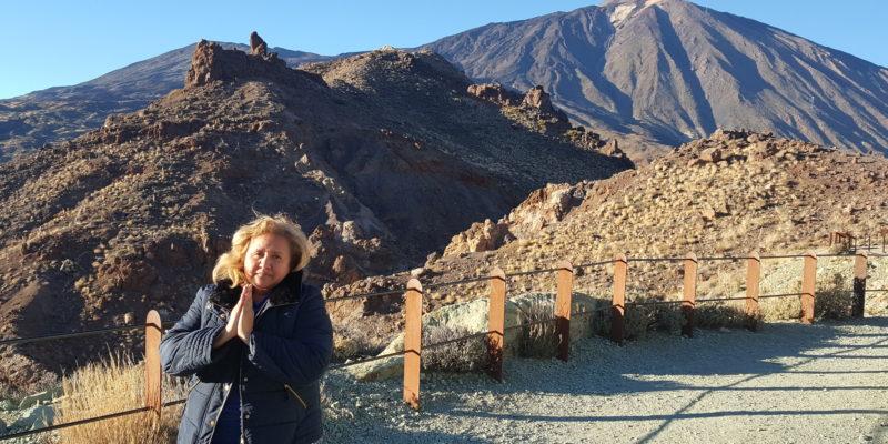 Norma Tolosa en El Teide