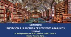 Seminario Iniciación a la lectura de Registros Akachicos- Nivel 1
