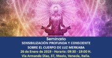 Seminario Sensibilización profunda y consciente sobre el Cuerpo de Luz MERKABA